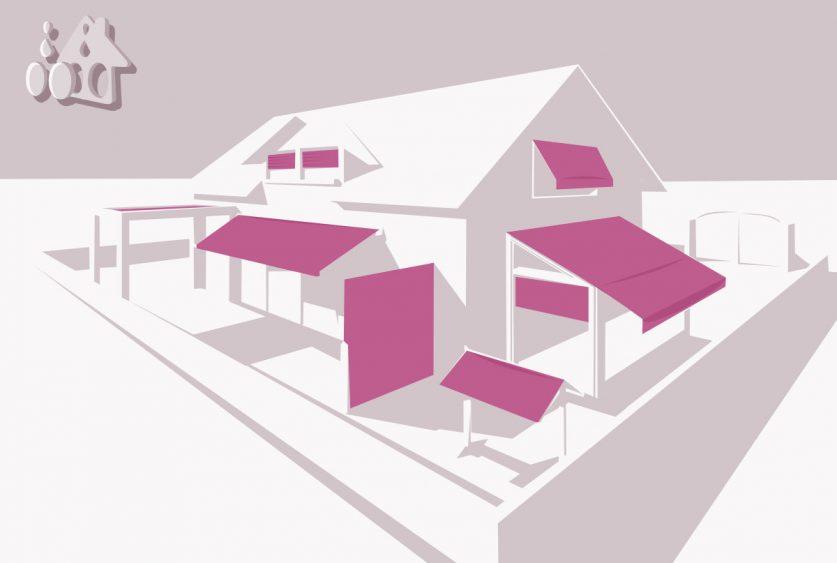 Stores de façade, de fenêtres, de vérandas, de terrasses, volets roulants et pergolas... toute une gamme au service de votre maison