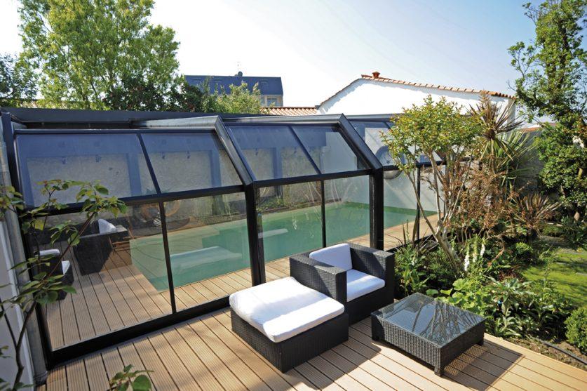 Veranda rideau piscine - Abri de piscine rideau ...